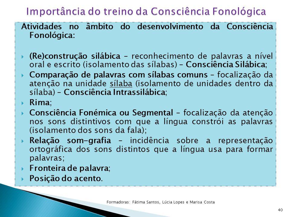 Importância do treino da Consciência Fonológica