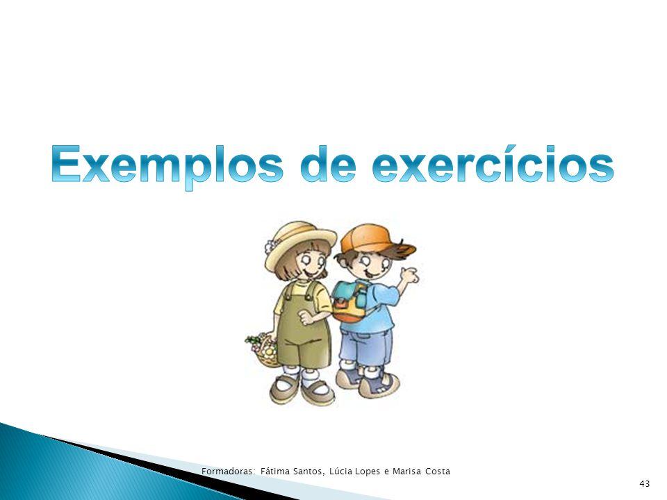 Exemplos de exercícios