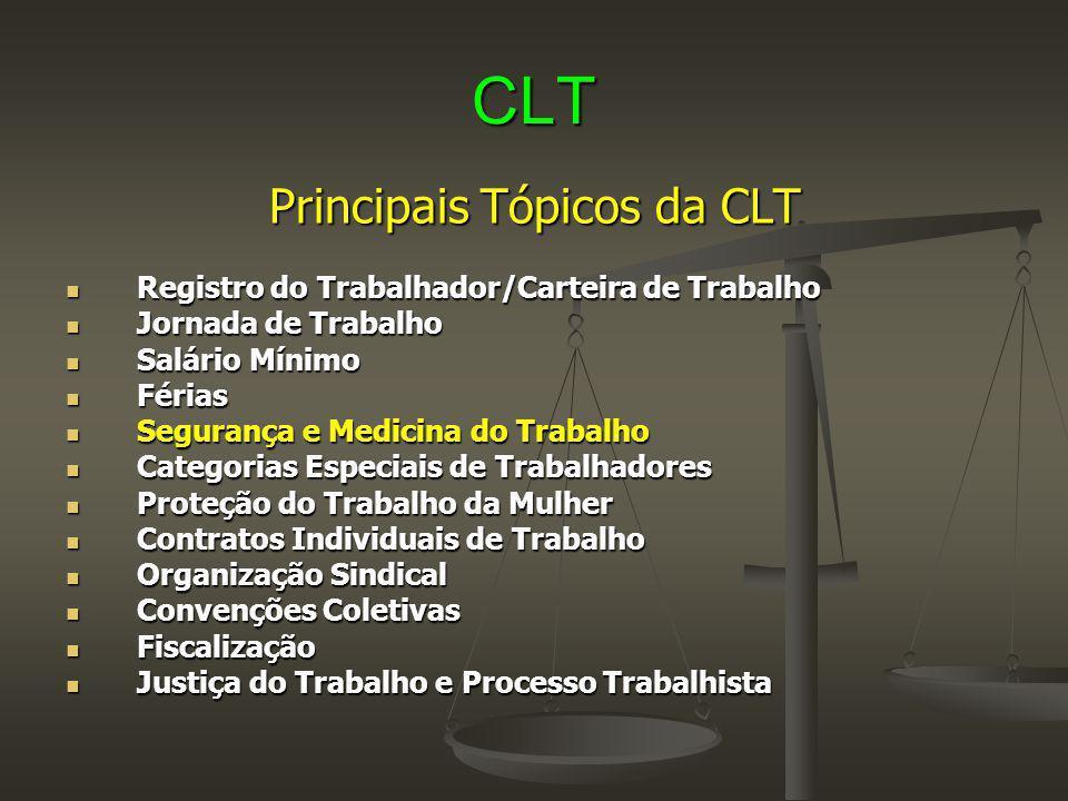 Principais Tópicos da CLT