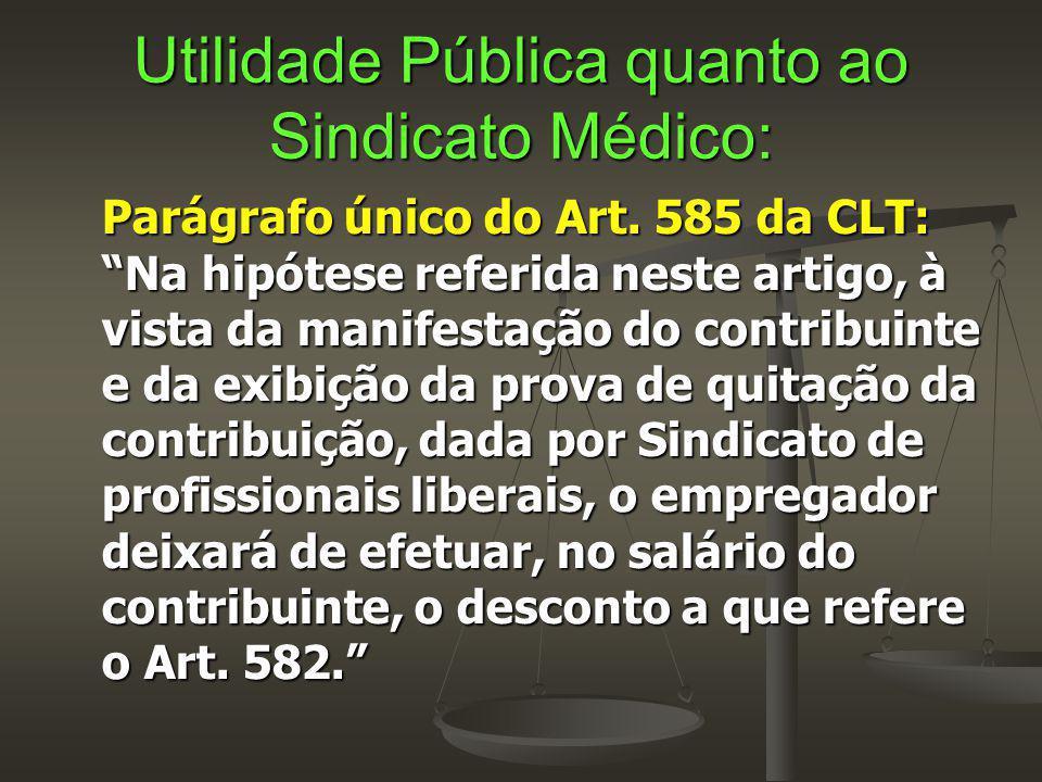 Utilidade Pública quanto ao Sindicato Médico: