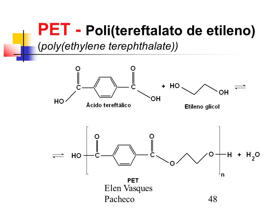 PET - Poli(tereftalato de etileno) (poly(ethylene terephthalate))