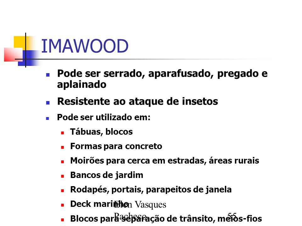 IMAWOOD Pode ser serrado, aparafusado, pregado e aplainado