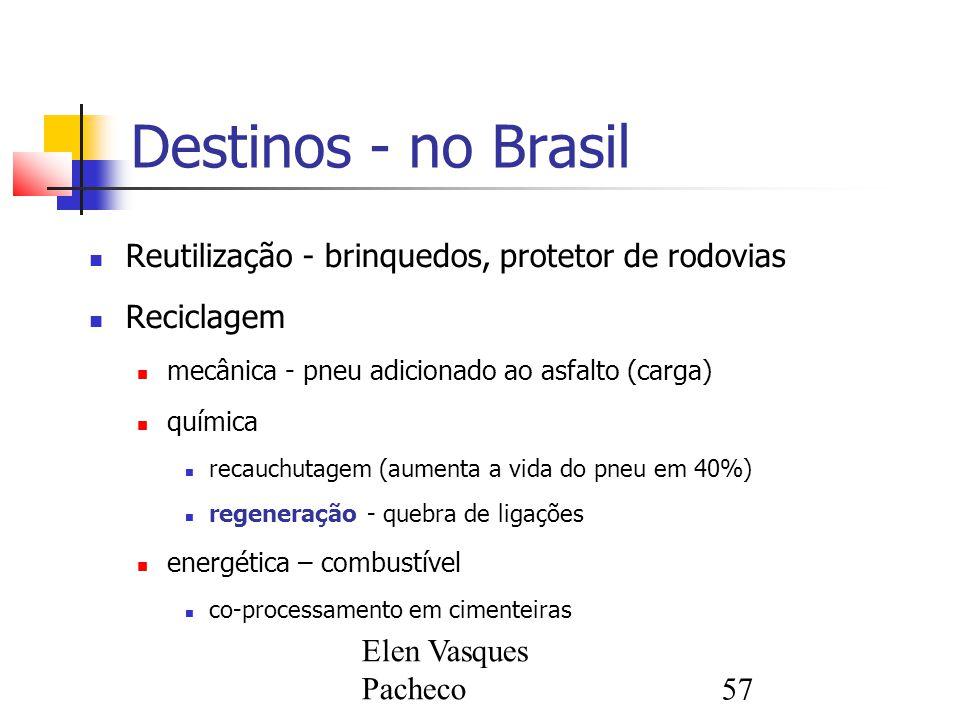 Destinos - no Brasil Reutilização - brinquedos, protetor de rodovias