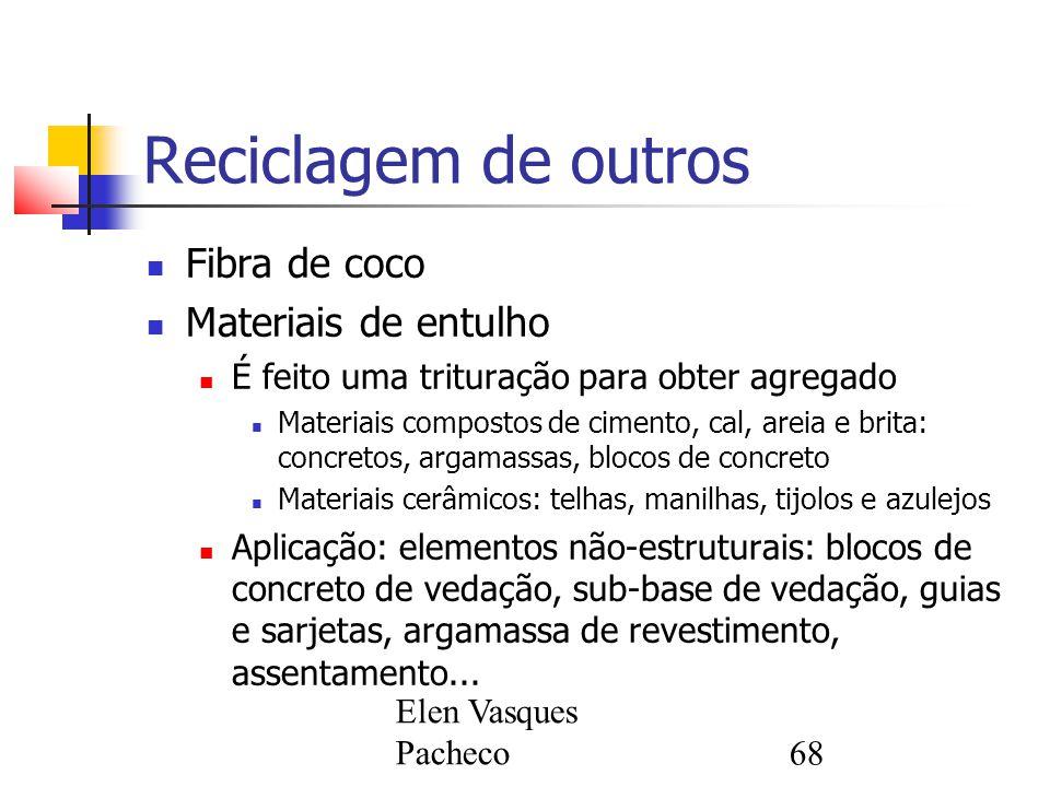 Reciclagem de outros Fibra de coco Materiais de entulho