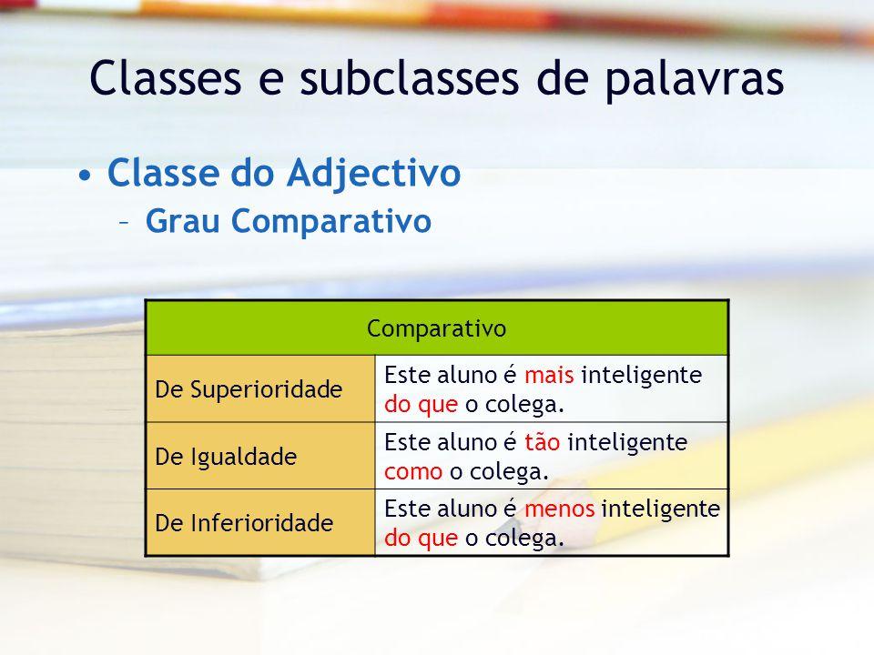 Classes e subclasses de palavras
