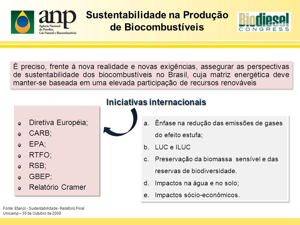 Sustentabilidade na Produção de Biocombustíveis