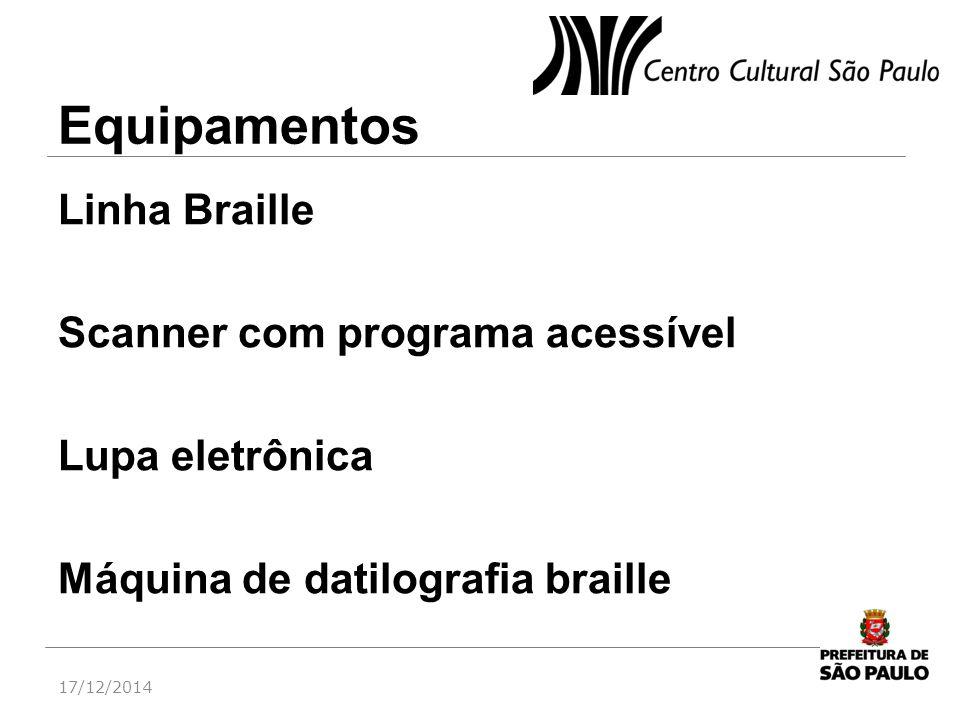 Equipamentos Linha Braille Scanner com programa acessível