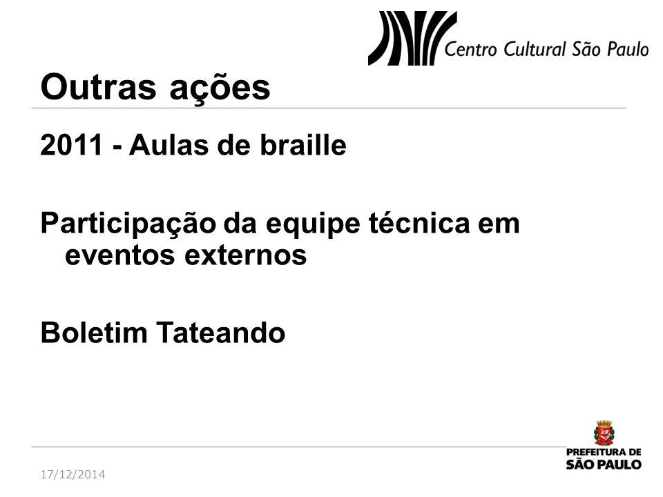 Outras ações 2011 - Aulas de braille