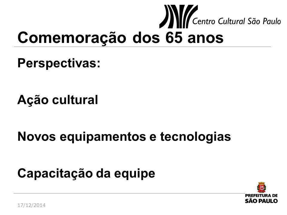 Comemoração dos 65 anos Perspectivas: Ação cultural