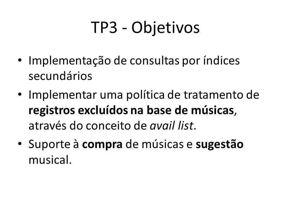 TP3 - Objetivos Implementação de consultas por índices secundários