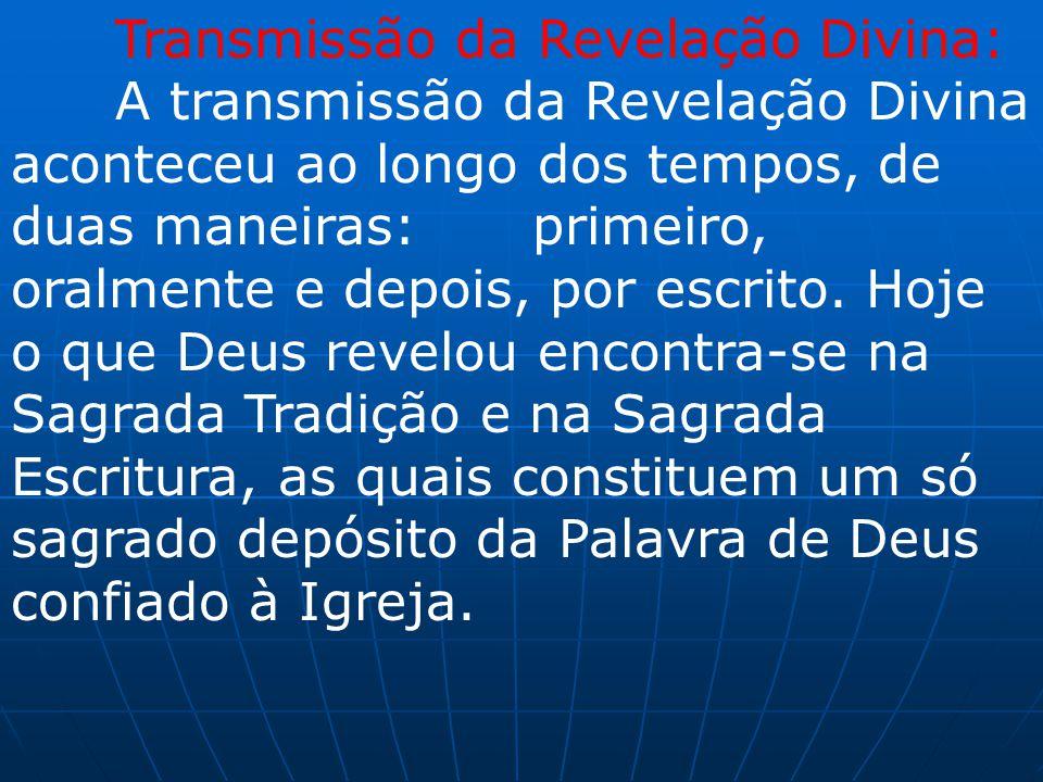Transmissão da Revelação Divina: