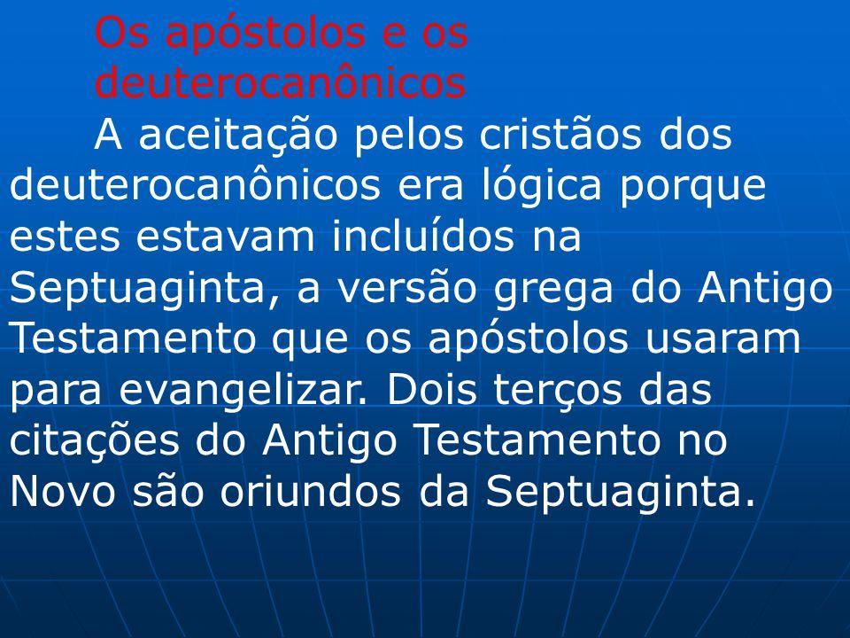Os apóstolos e os deuterocanônicos