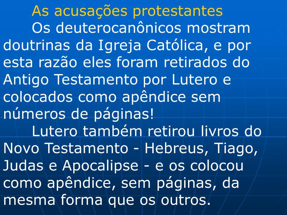 As acusações protestantes