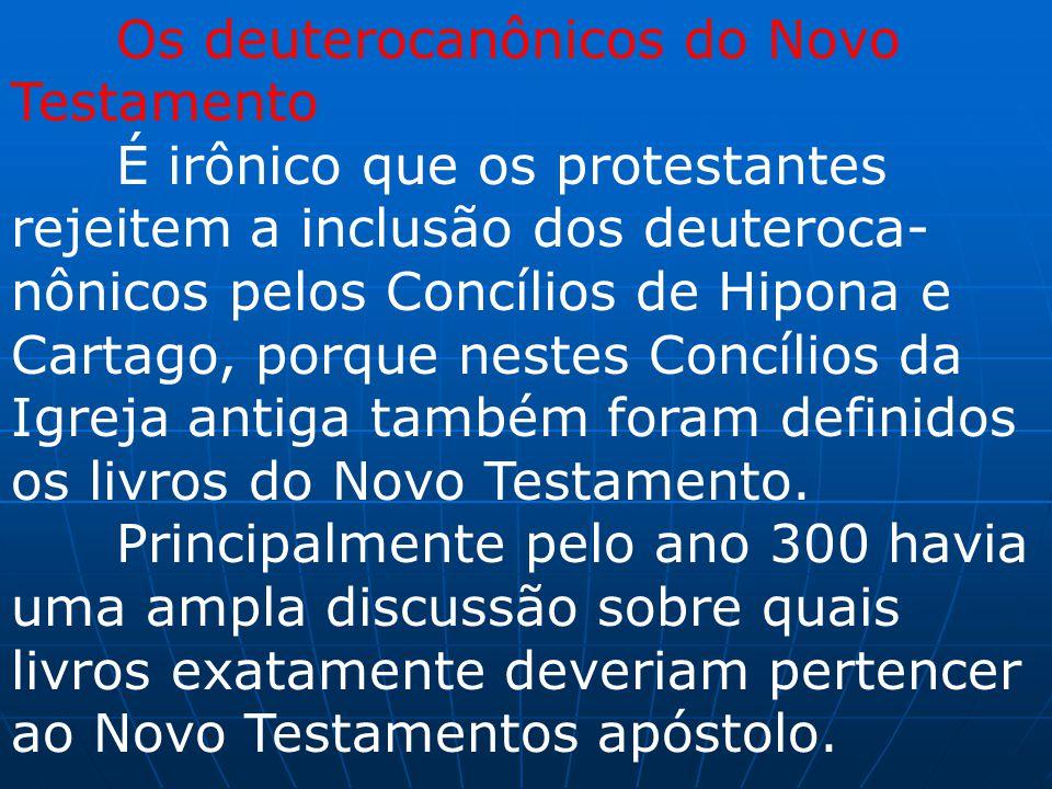 Os deuterocanônicos do Novo Testamento