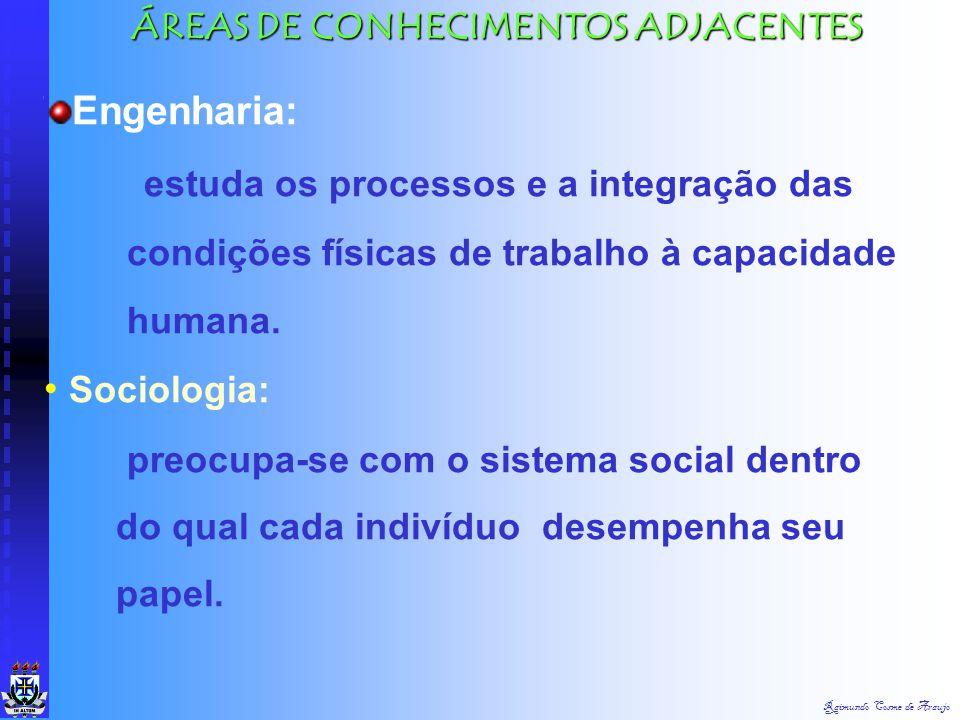 ÁREAS DE CONHECIMENTOS ADJACENTES