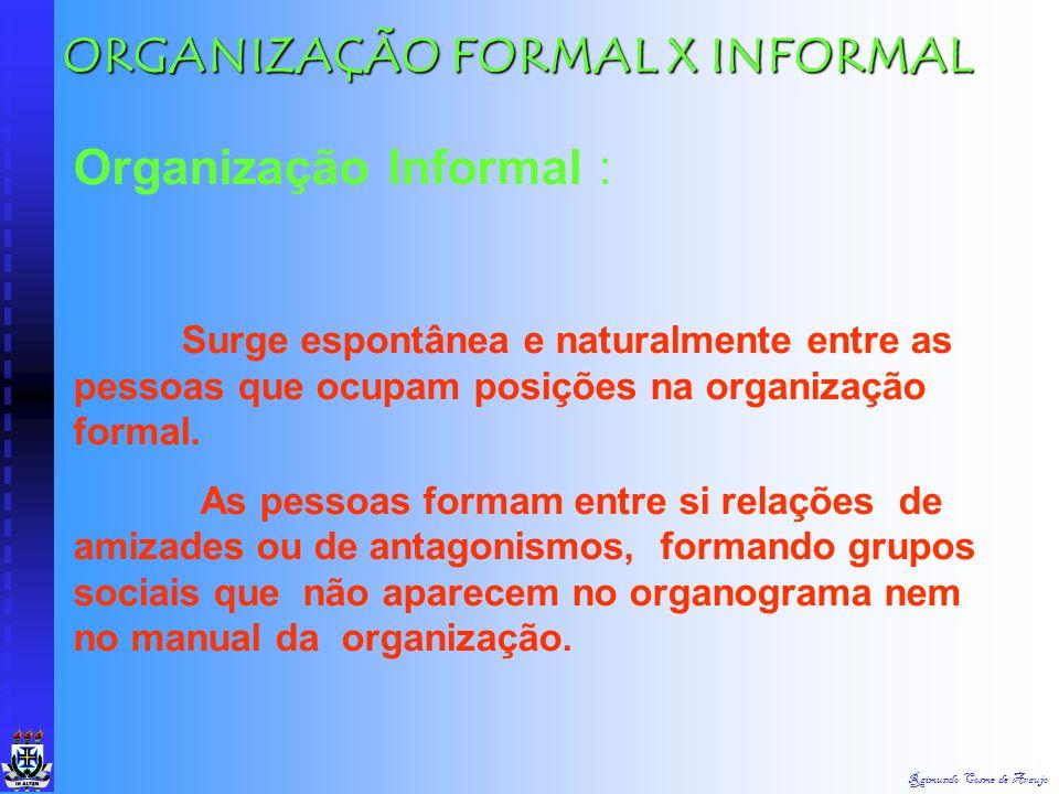ORGANIZAÇÃO FORMAL X INFORMAL