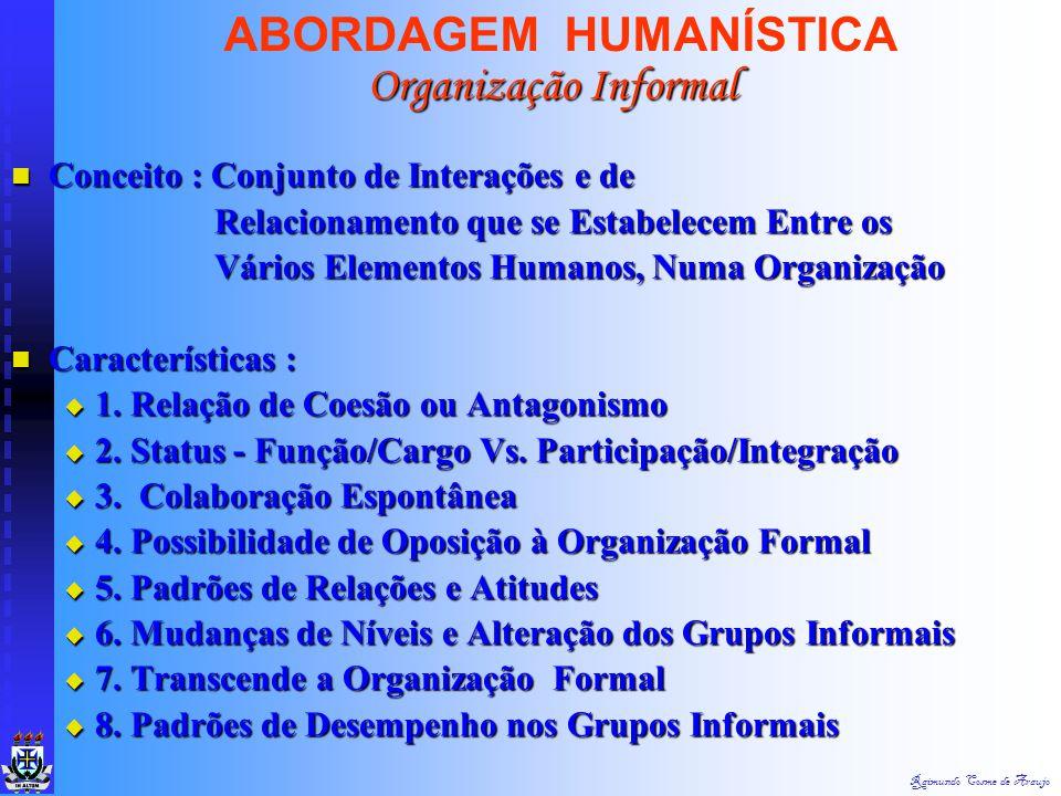 ABORDAGEM HUMANÍSTICA Organização Informal