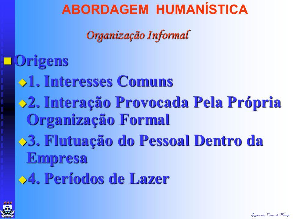 2. Interação Provocada Pela Própria Organização Formal