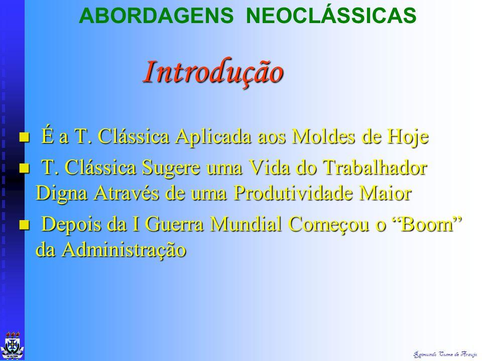 Introdução ABORDAGENS NEOCLÁSSICAS