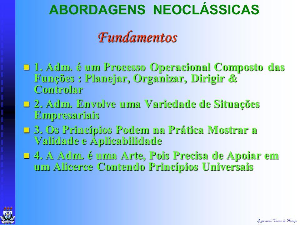 Fundamentos ABORDAGENS NEOCLÁSSICAS