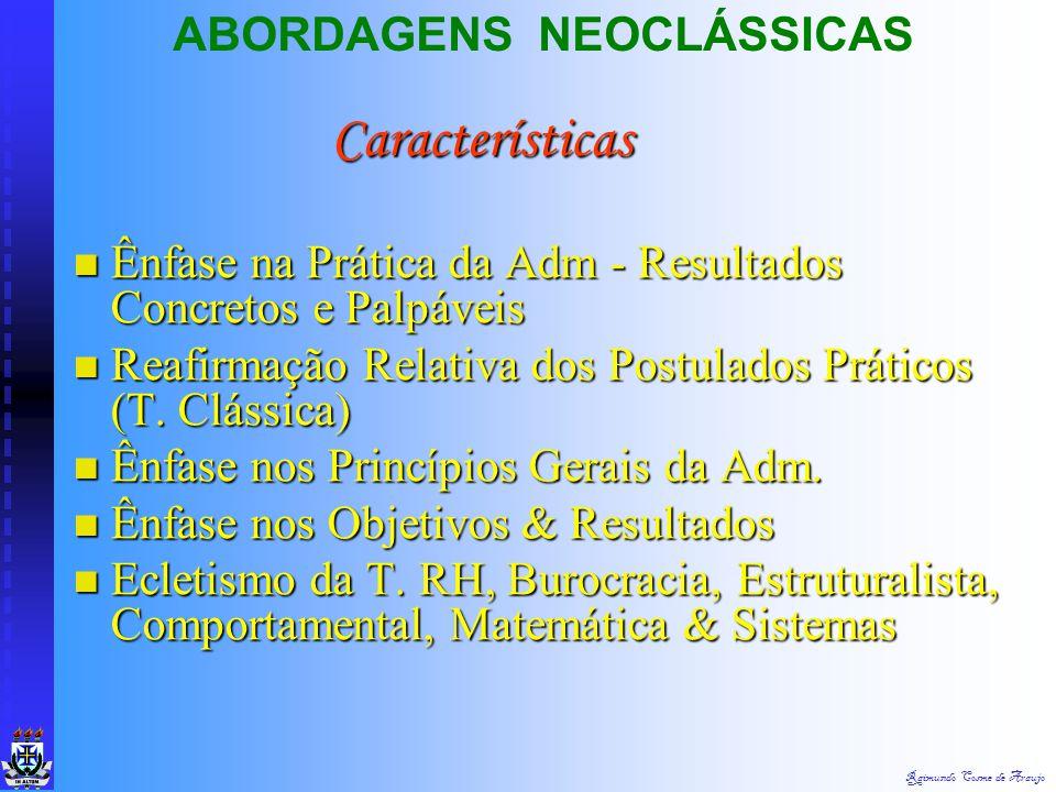 Características ABORDAGENS NEOCLÁSSICAS