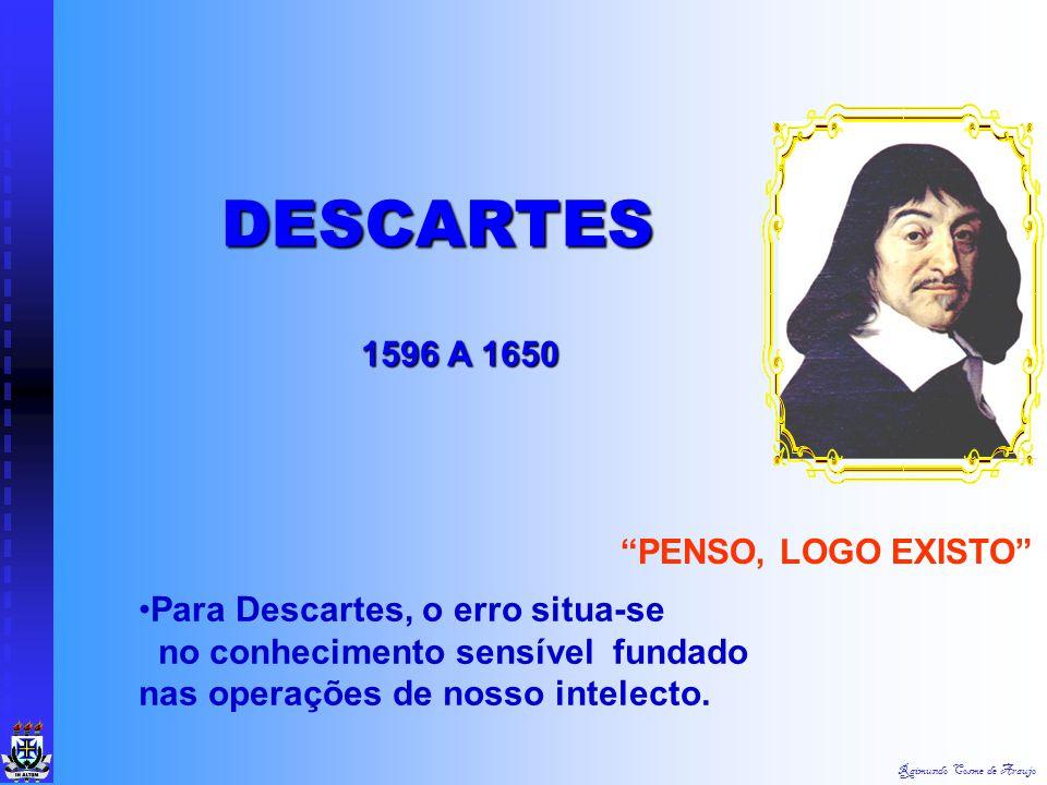 DESCARTES 1596 A 1650 PENSO, LOGO EXISTO