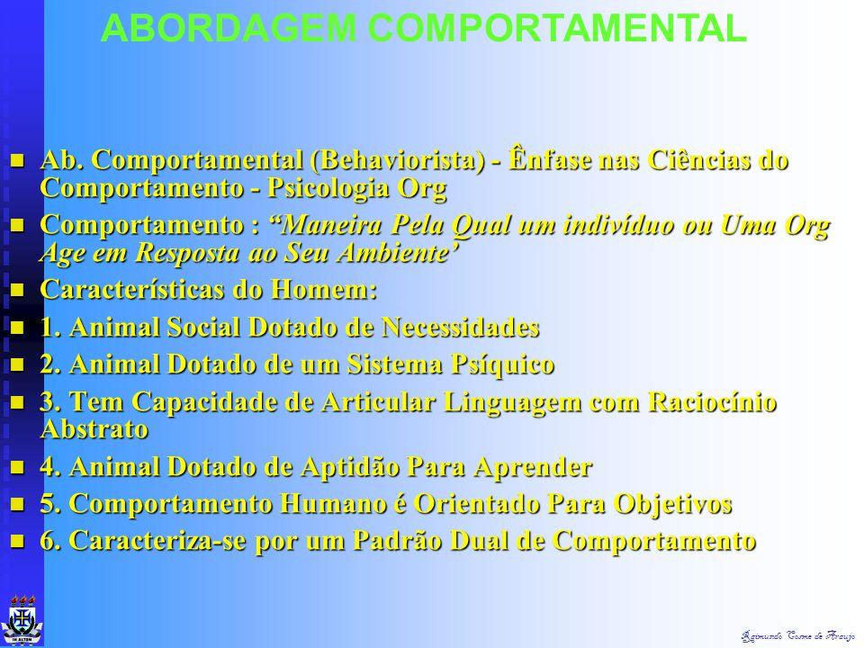 ABORDAGEM COMPORTAMENTAL