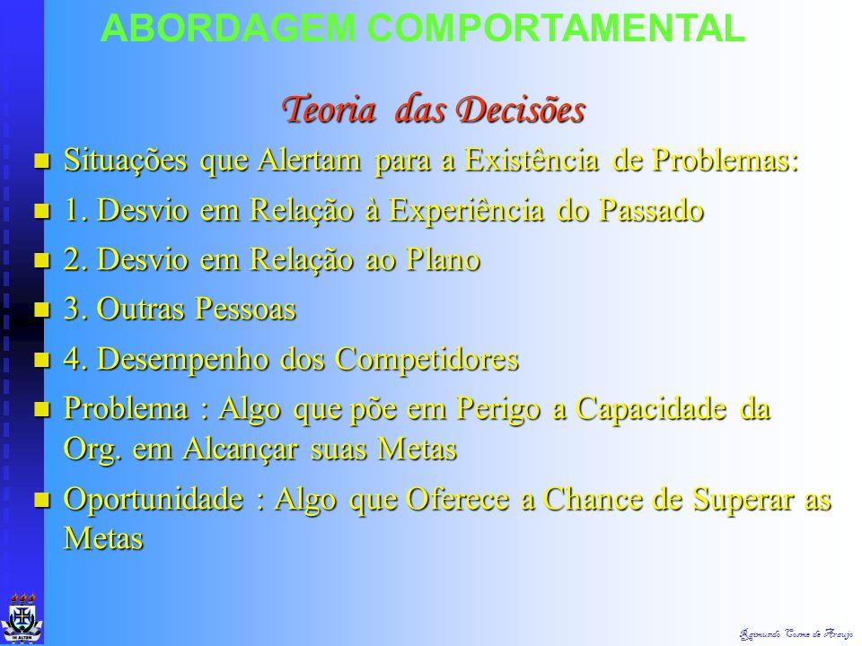 Teoria das Decisões ABORDAGEM COMPORTAMENTAL