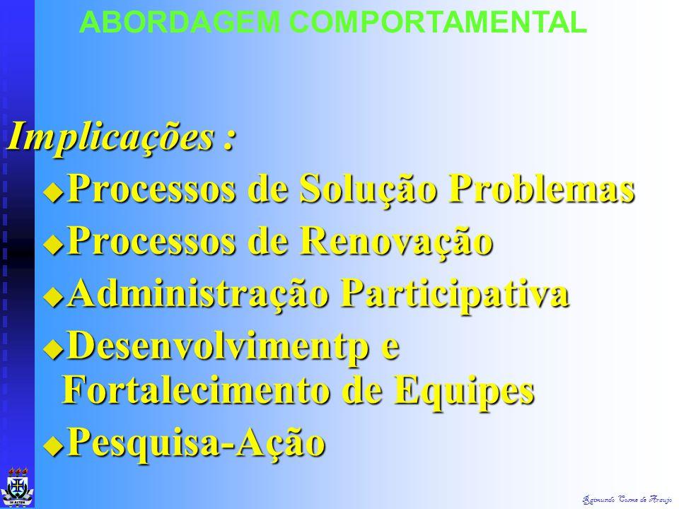 Processos de Solução Problemas Processos de Renovação