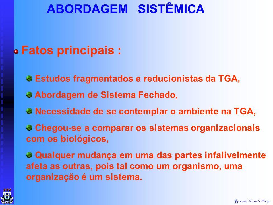ABORDAGEM SISTÊMICA Fatos principais :