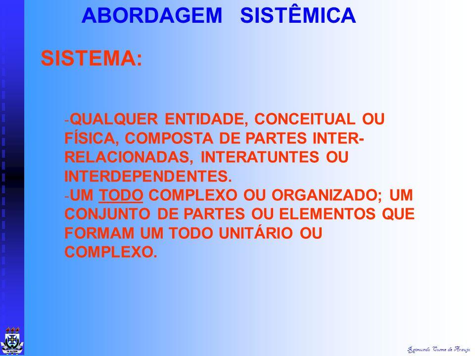 SISTEMA: ABORDAGEM SISTÊMICA