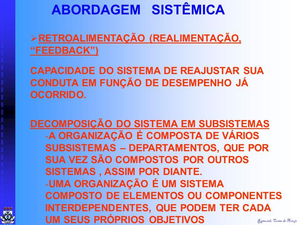 ABORDAGEM SISTÊMICA RETROALIMENTAÇÃO (REALIMENTAÇÃO, FEEDBACK )