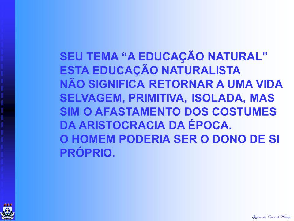 SEU TEMA A EDUCAÇÃO NATURAL