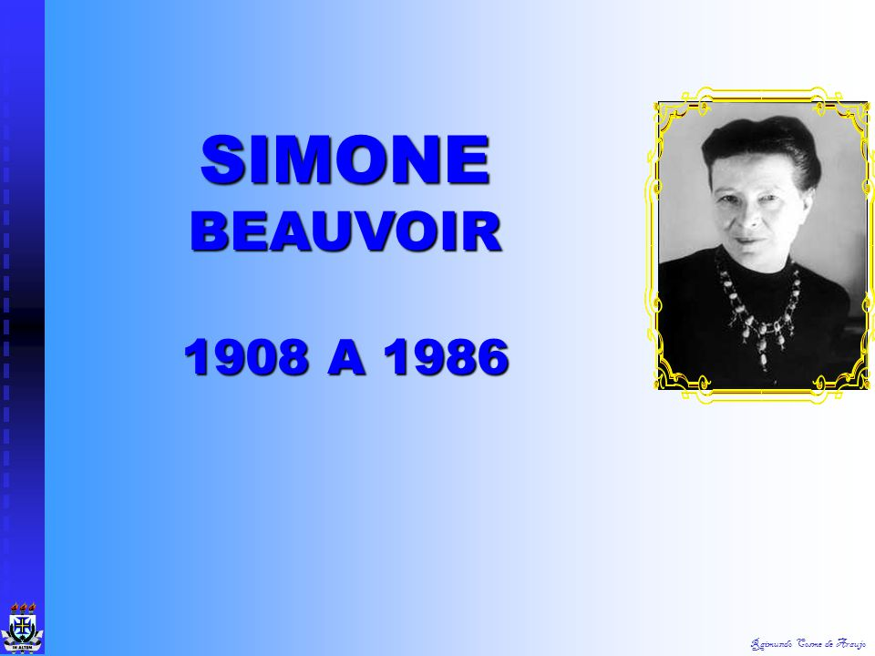 SIMONE BEAUVOIR 1908 A 1986