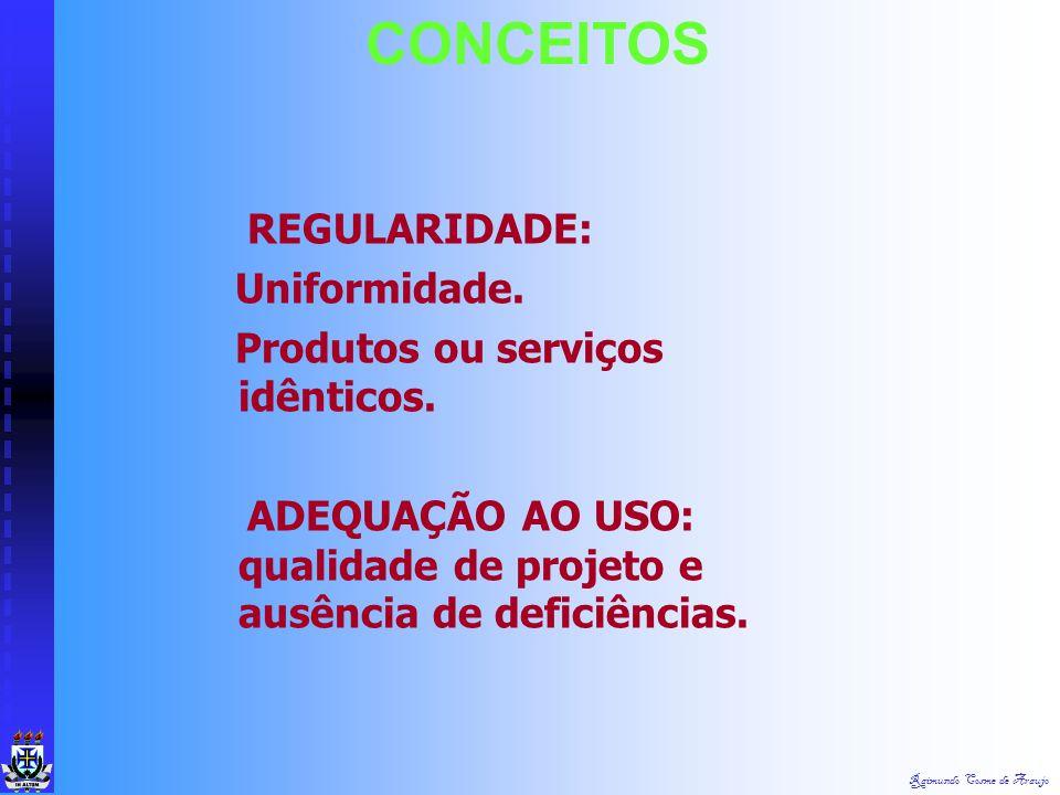 CONCEITOS REGULARIDADE: Uniformidade. Produtos ou serviços idênticos.
