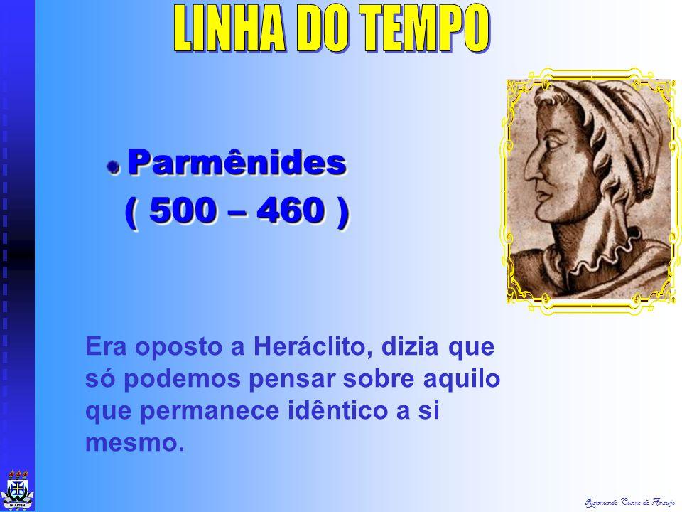 LINHA DO TEMPO Parmênides ( 500 – 460 )