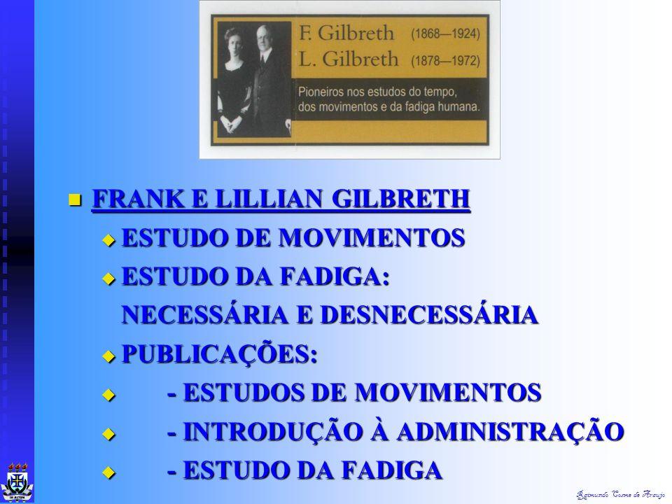 FRANK E LILLIAN GILBRETH