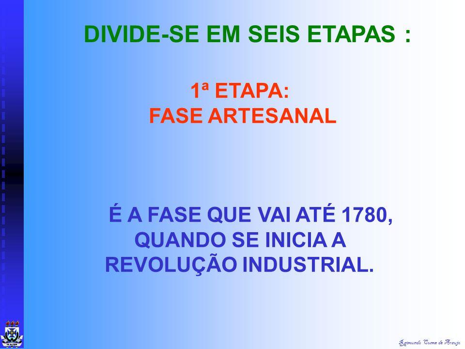 É A FASE QUE VAI ATÉ 1780, QUANDO SE INICIA A REVOLUÇÃO INDUSTRIAL.