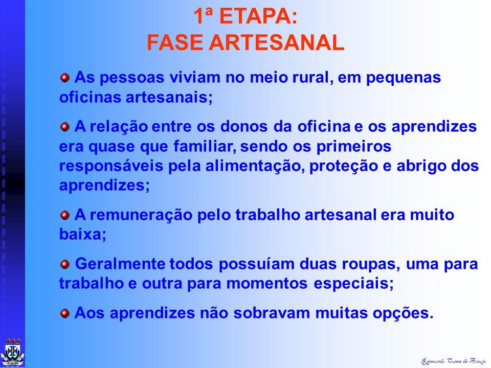 1ª ETAPA: FASE ARTESANAL
