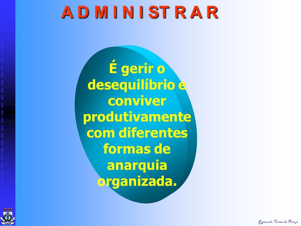 A D M I N I ST R A R É gerir o desequilíbrio e conviver produtivamente com diferentes formas de anarquia organizada.