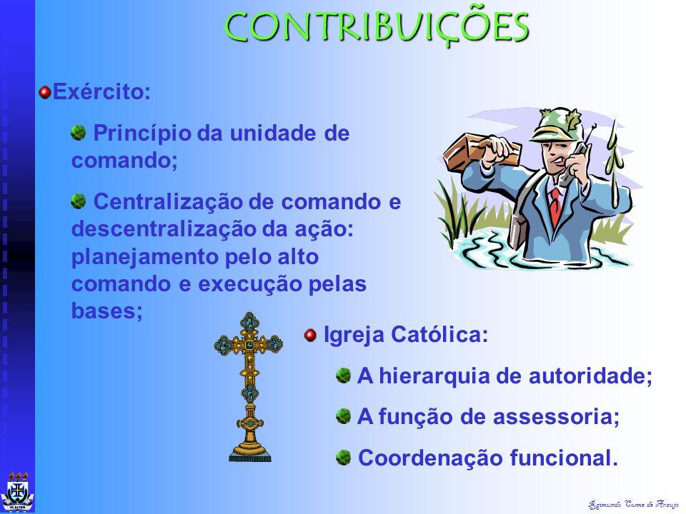 CONTRIBUIÇÕES Exército: Princípio da unidade de comando;