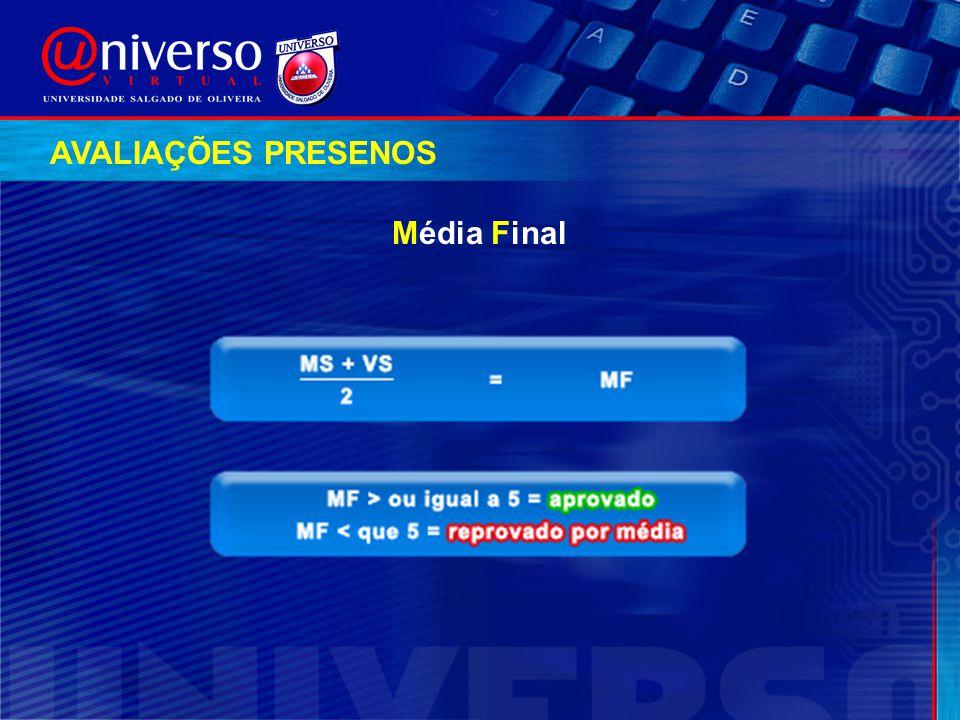 AVALIAÇÕES PRESENOS Média Final