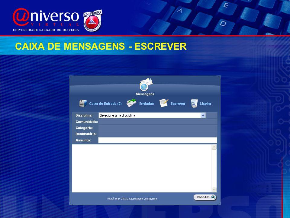 CAIXA DE MENSAGENS - ESCREVER
