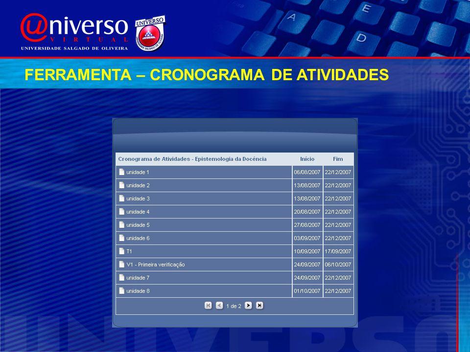 FERRAMENTA – CRONOGRAMA DE ATIVIDADES