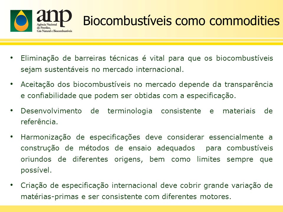 Biocombustíveis como commodities