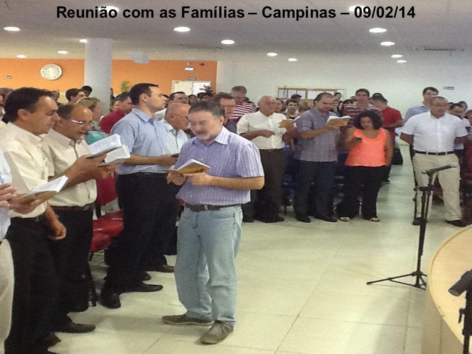 Reunião com as Famílias – Campinas – 09/02/14