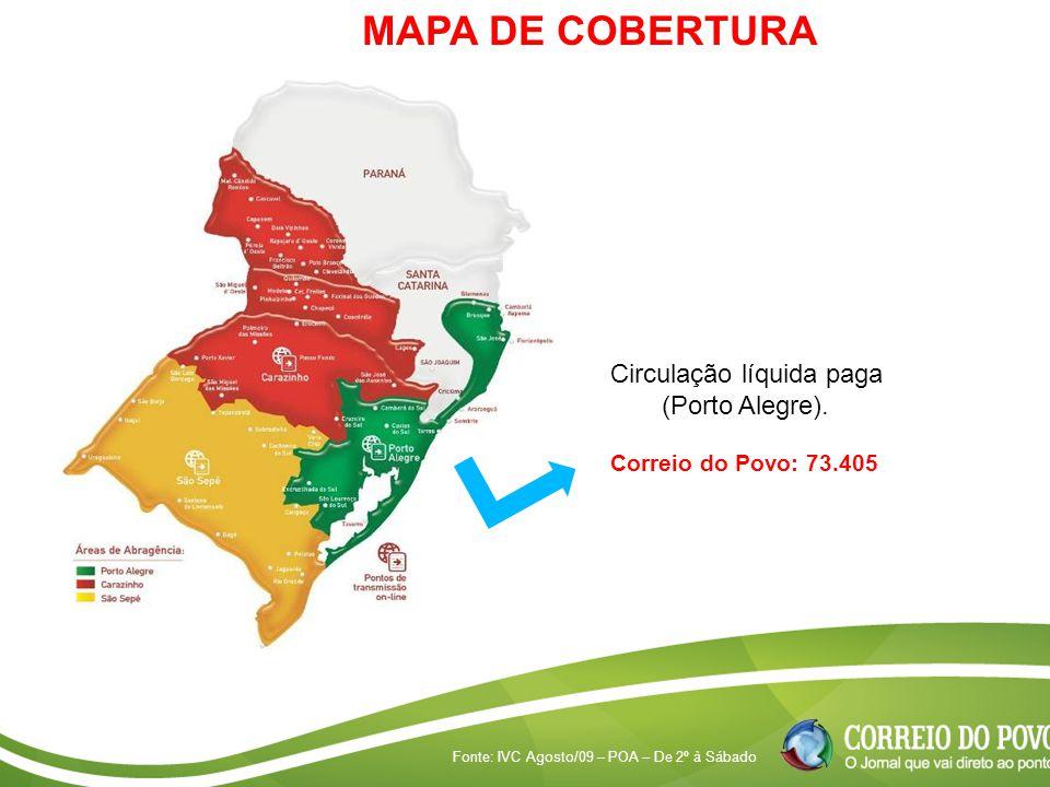 MAPA DE COBERTURA Circulação líquida paga (Porto Alegre).