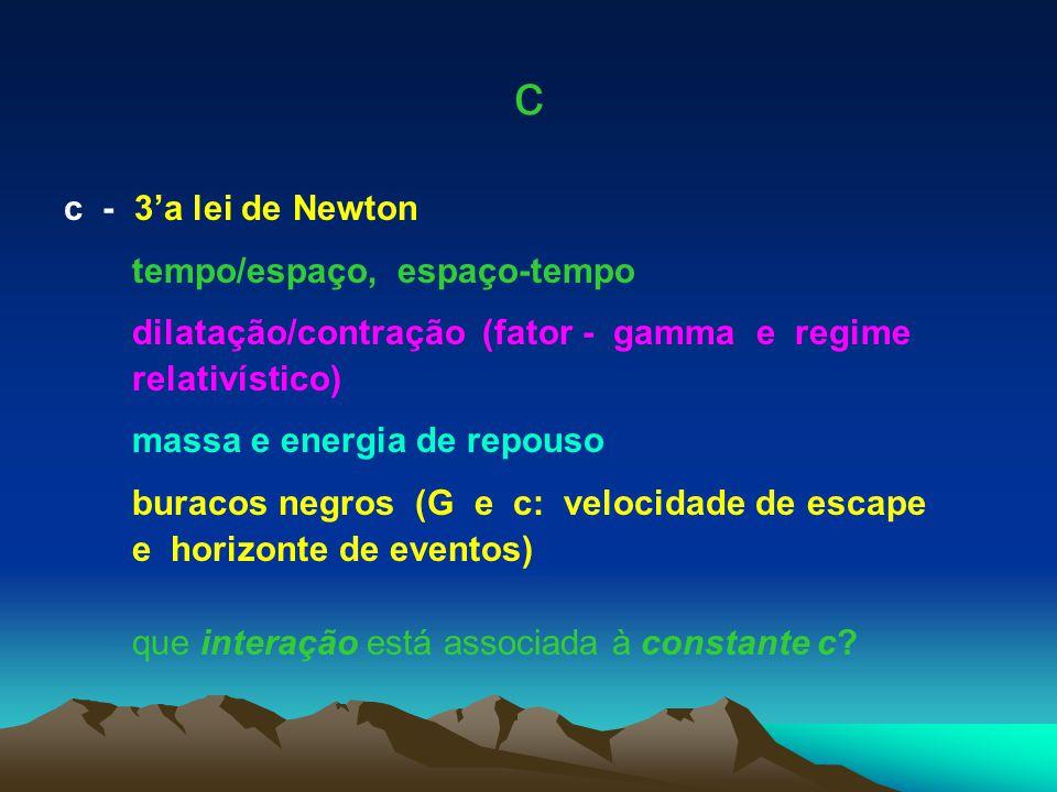c c - 3'a lei de Newton tempo/espaço, espaço-tempo