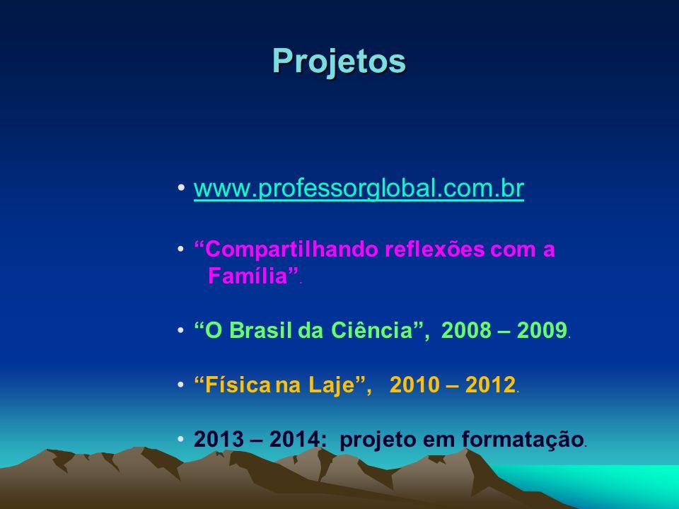 Projetos www.professorglobal.com.br Compartilhando reflexões com a