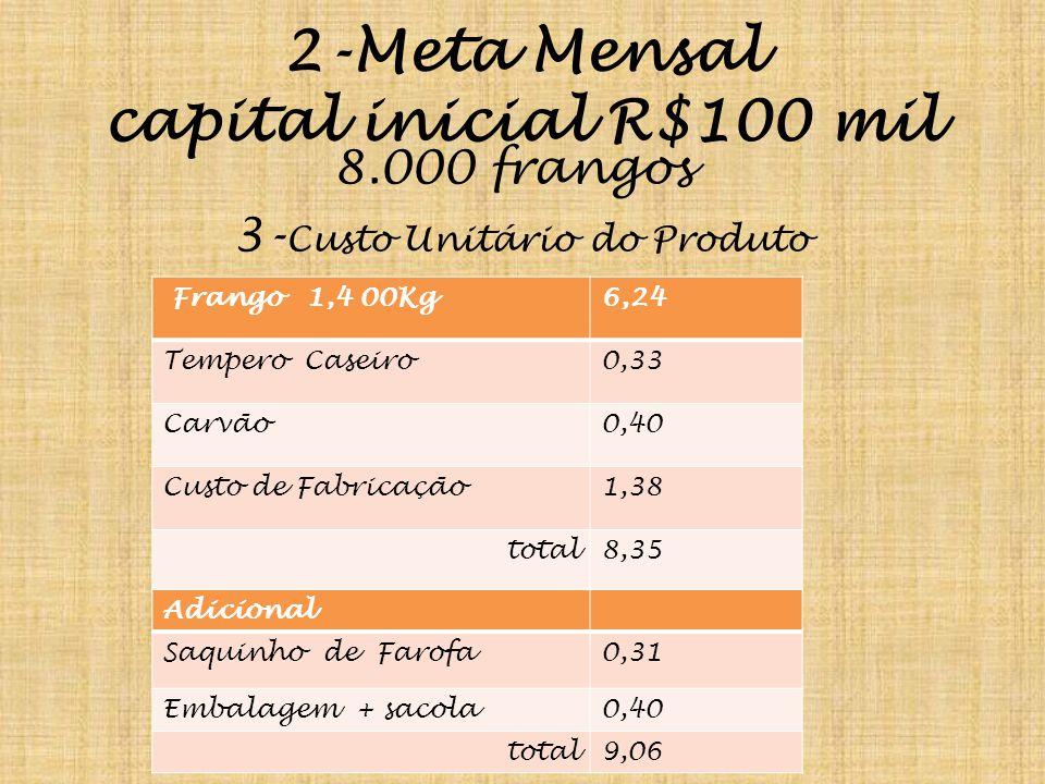 2-Meta Mensal capital inicial R$100 mil